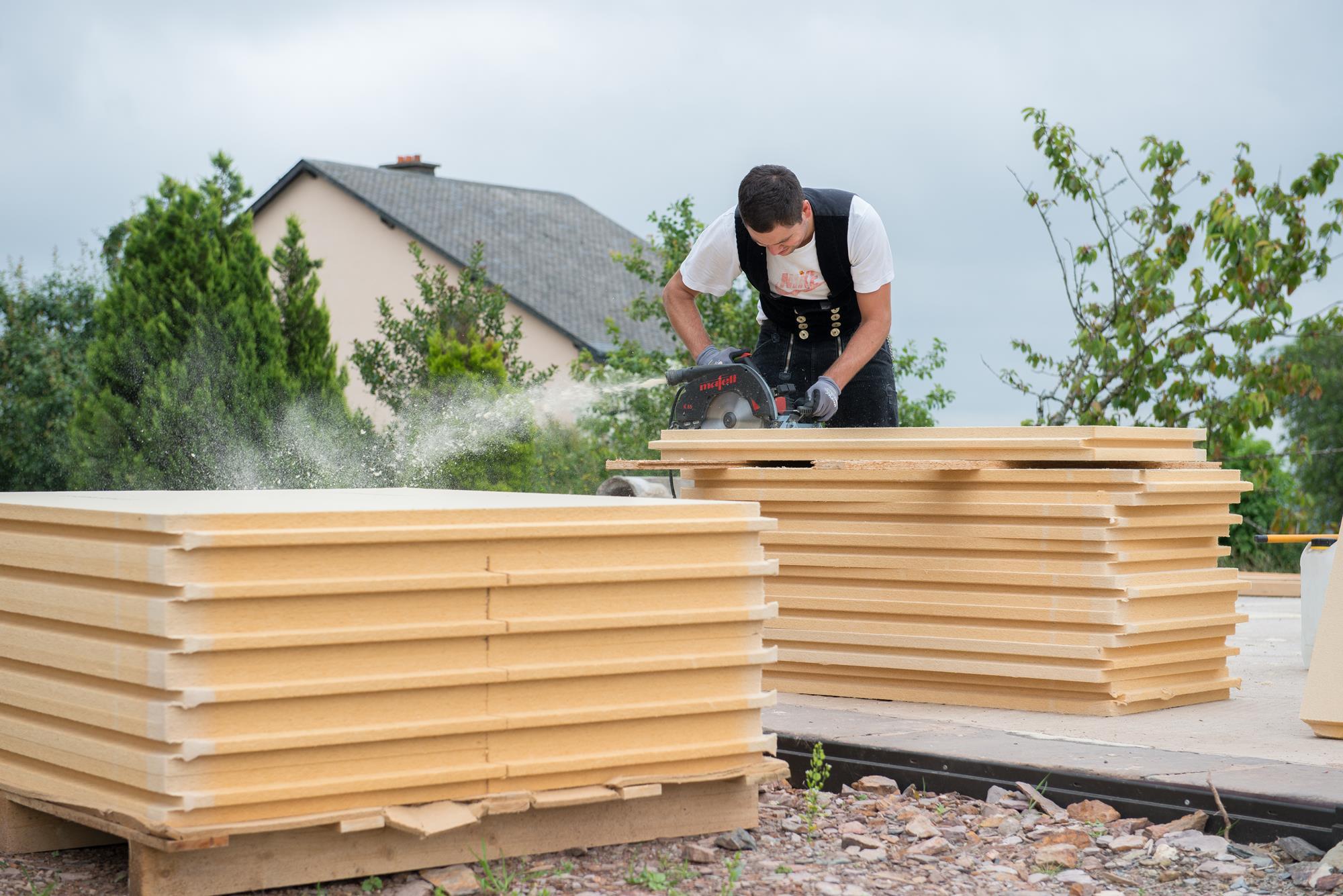 Bois massif construction en ossature bois for Construction bois massif